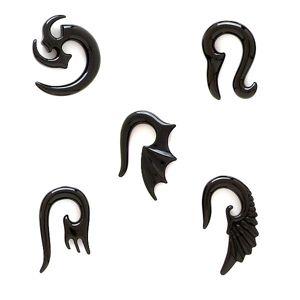 Expander do ucha - klasický tribal symbol - Tloušťka : 6 mm , Symbol: Dračí křídlo