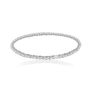 Náramek ze stříbra 925 ve stříbrné barvě - dva propletené proužky