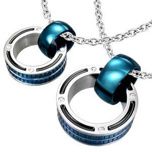 Přívěsky pro pár - mohutné prstence v modré barvě, zirkony