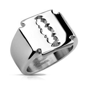 Prsten z chirurgické oceli - žiletka - Velikost: 59
