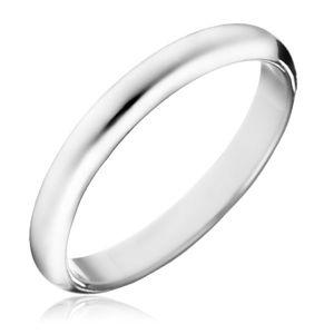Prsten ze stříbra 925 - hladký lesklý kroužek - Velikost: 50