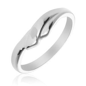 Prsten ze stříbra 925 s překrývajícími se rameny - Velikost: 52