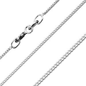 Řetízek ze zakroucených okrouhlých oček, ze stříbra 925, šířka 0,8 mm, délka 550 mm