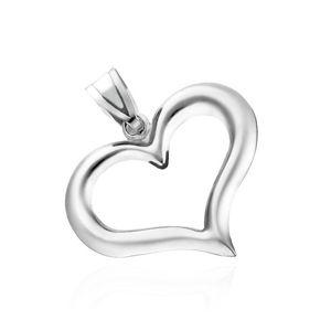 Stříbrný přívěsek 925 - nepravidelná silueta srdce