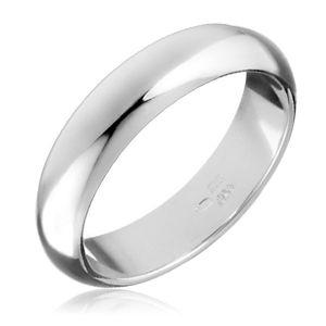 Stříbrný prsten 925 - hladká, mírně vypouklá obroučka - Velikost: 58